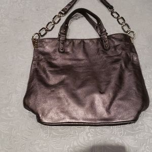Badgley Mischka dark silver tote/hobo styl…